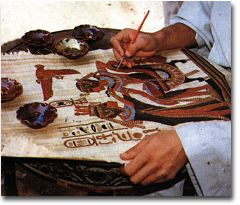 How Egyptian Papyrus is Painted